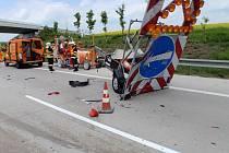 Nehoda na dálnici u Bezměrova