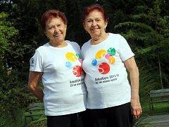 Dvojčata  Dagmar Opálková  (vlevo) a Marie Morávková ze Zlína.