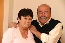 Manželé Jindřich a  Oldřiška Mudříkovi.