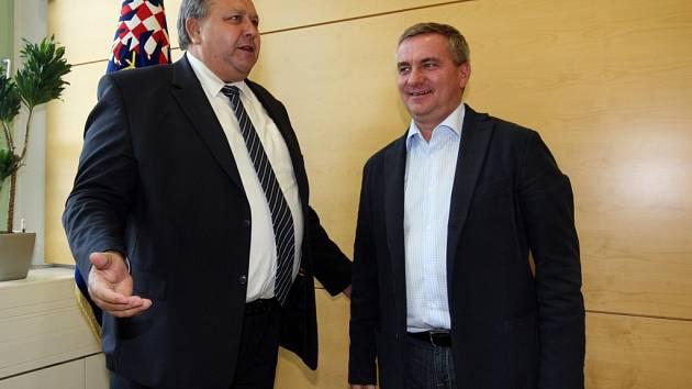 Povolební jednání v úřadu Zlínského kraje ve Zlíně.  Stanislav Mišák