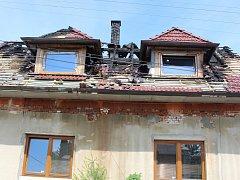 Požár rodinného domu ve Zlíně-Chlumu