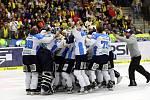 Připomeňte si atmosféru sedmého rozhodujícího finále hokejové extraligy mezi PSG Zlín a Plzní.