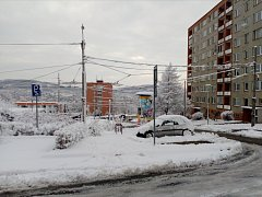 Sněhová nadílka ve Zlíně 29. 12. 2017