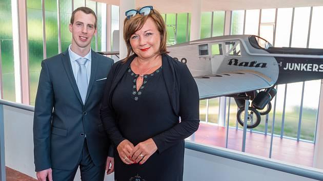 Místopředsedkyně vlády a ministryně financí České republiky Alena Schillerová a primátor Zlína Jiří Korec