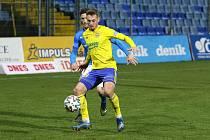 Fotbalisté Zlína (ve žlutých dresech) se v 16. kole FORTUNA:LIGY utkali s Baníkem Ostrava.