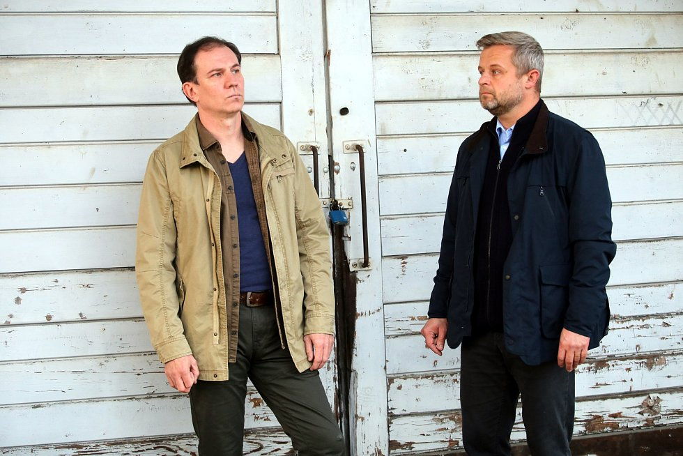 Natáčení filmu Metanol ve Zlíně.Martin Finger i Vasil Fridrich
