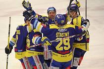 Hokejisté Aukro Berani Zlín se ve 44. kole extraligy utkali s Duklou Jihlava.