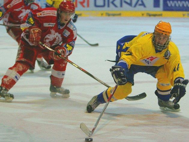 Zlínští hokejoví junioři (ve žlutém).