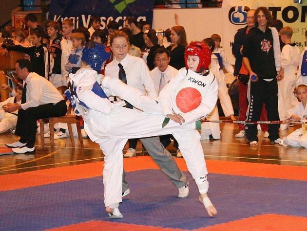 Taekwondista Martin Štípek (v červeném).