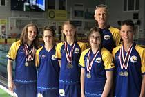 Členové Zlínského plaveckého klubu získali na mistrovství ČR sedm medailí.