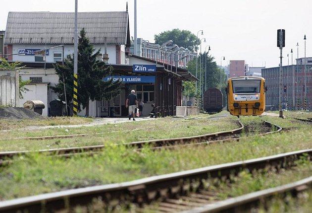 Vlakové nádraží ve Zlíně.