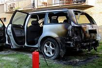 Požár passatu v Holešově