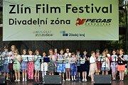 58. ZLÍN FILM FESTIVAL 2018 - Mezinárodní festival pro děti a mládež. ZUŠ OPEN, park Komenského. Mladí flétnisté a Flautini ZUŠ Kroměříž