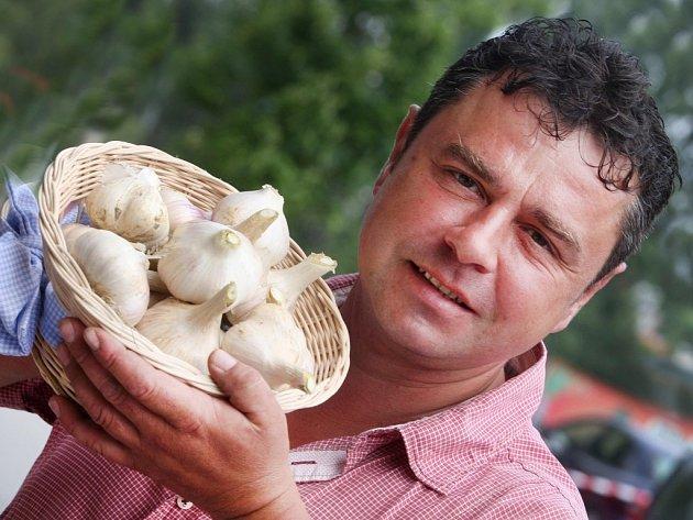 Pěstitel česneku Jan Janča