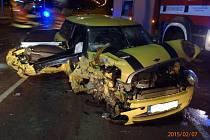 Dopravní nehoda na třídě T. Bati ve Zlíně.