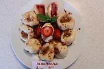 Tvarohové knedlíky plněné jahodami podle Maxijedlíka.