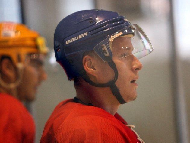 Hokejisté PSG Zlín. Daniel Strumpf. Ilustrační foto.