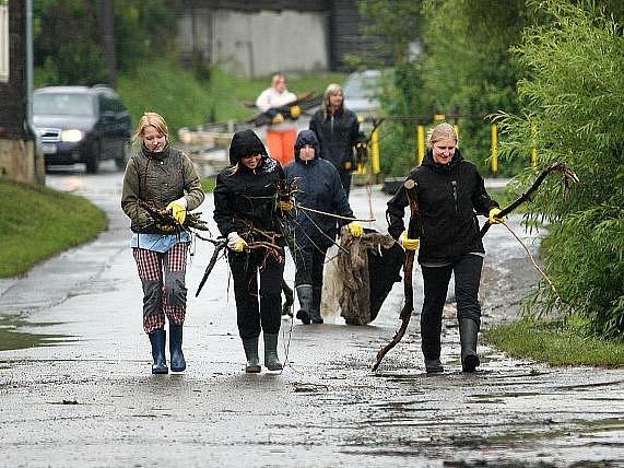 Trnava po bleskové povodni, 1. červenec 2011