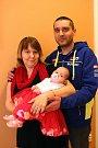 Vítání dětí na radnici ve Zlíně.  Radoslav Ondrovčík a Ivana Křenová s dcerou Radkou