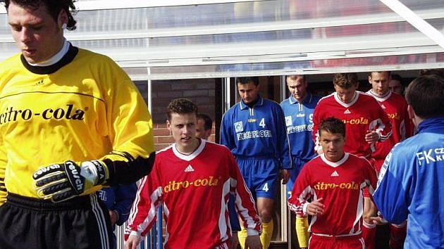 Václav Jordánek (v popředí vlevo) nastupoval za Sigmu Olomouc především za rezervu ve druhé lize, v nichž dal v 76 zápasech 4 góly.