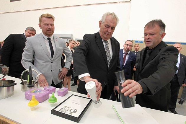Návštěva prezidenta  ČR Miloše Zemana vTescomě.