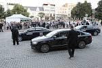Návštěva prezidenta Miloše Zemana ve Zlínském kraji. Náměstí Míru