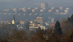 Zlín zasáhl v pondělí 30. ledna smog.