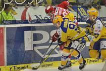 Hokej Zlín - Třinec, 2. předkolo, úterý - 1. třetina