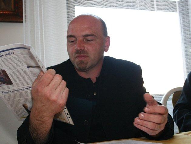 Starosta Vysokého Pole Josef Zicha.