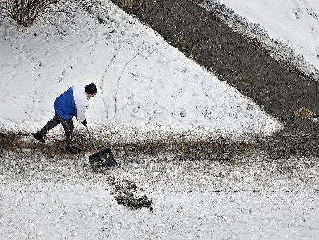 Zimní úklid ve Zlíně