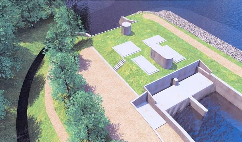 Vizualizace vodní elektrárny v Otrokovicích