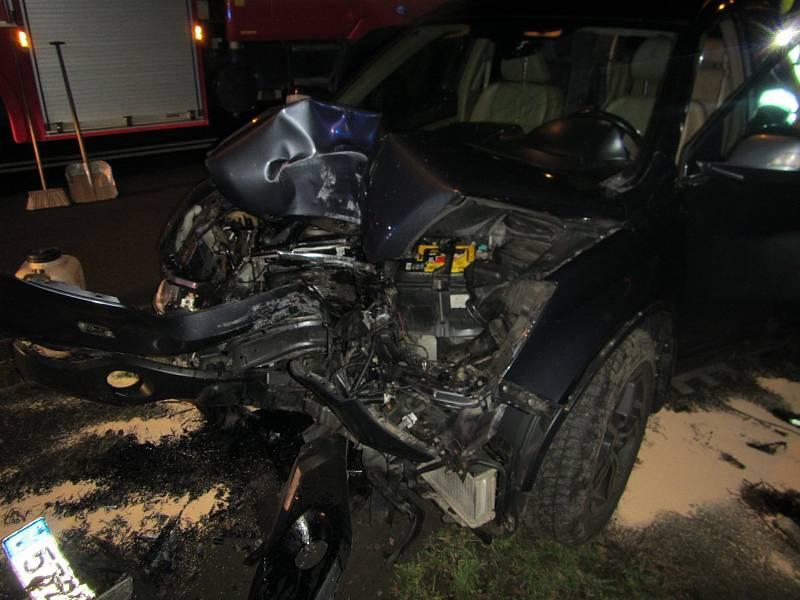 Nehoda auta v Kvítkovicích.