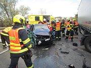 Vážná nehoda ochromila hlavní tah ze Zlína na Vizovice