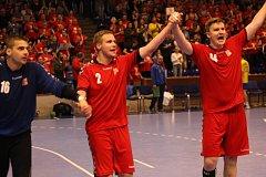 Čeští házenkáři vyhráli v kvalifikačním zápase o postup na mistrovství Evropy ve Zlíně nad Ukrajinou.