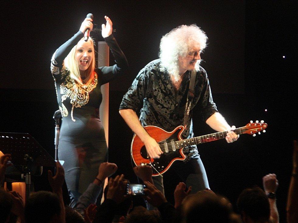Koncert  Brian May & Kerry Ellis v kongresovém centru ve Zlíně.