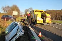 U Lutoniny na Zlínsku se v úterý srazila dvě vozidla. Nehoda si vyžádala zranění jedné osoby.