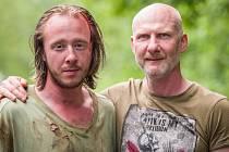 Čeští filmaři právě natáčejí celovečerní hraný snímek Hrana zlomu na pomezí hororu a thrilleru.  Na snímku Štěpán Kozub a režisér Emil Křižka.