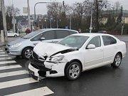 Řidičky byly ošetřeny na místě nehody. Převoz do nemocnice nebyl nutný