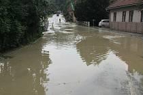 Přívalový déšť na Luhačovicku - pátek 24. 7. 2020