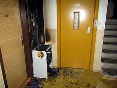 Požár výškové budovy v Brumově-Bylnici