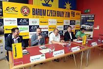 Tisková konference Barum Czech rally Zlín na krajském úřadě ve Zlíně.