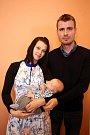 Vítání dětí na městském úřadě ve Zlíně.Kateřina Šabacká s manželem Pavlem a synem Patrikem.