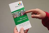 Brožura Regionu Zlínsko. Ilustrační foto