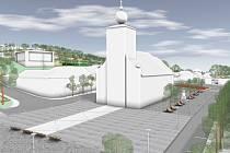 Vizualizace návrhu náměstí ve Slušovicích.