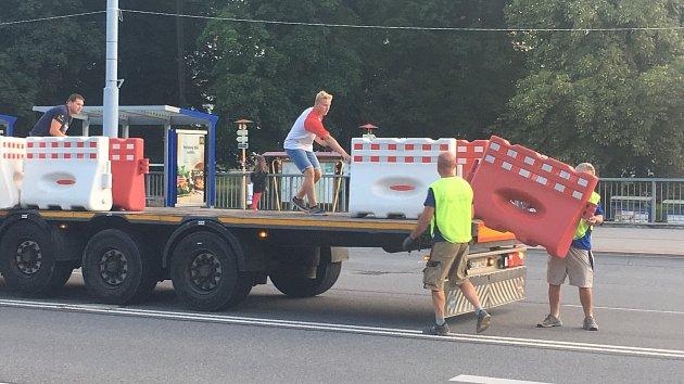 Přípravy na Barum Czech Rally Zlín 2019 - chystání průjezdu městem
