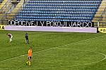 Fotbalisté Zlína ve 26. kole FORTUNA:LIGY hostili na Letné Baník Ostrava, Utkání se hrálo bez diváků.