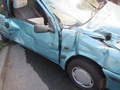 Dopravní nehoda ve Vizovicích.