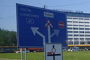 Dopravní komplikace ve Zlíně. Ilustrační foto