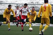 Z utkání 1. ligy staršího dorostu 1. FK Příbram – Zlín.