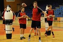Čtvrteční trénink českých  házenkářů ve Zlíně - na snímku Petr Šlachta